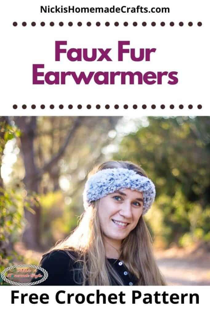 Crochet Faux Fur Earwarmers