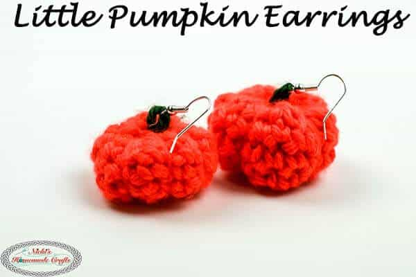 Crochet Little Pumpkin Earrings