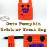 Cute Pumpkin Trick or Treat Bag as Free Crochet Pattern