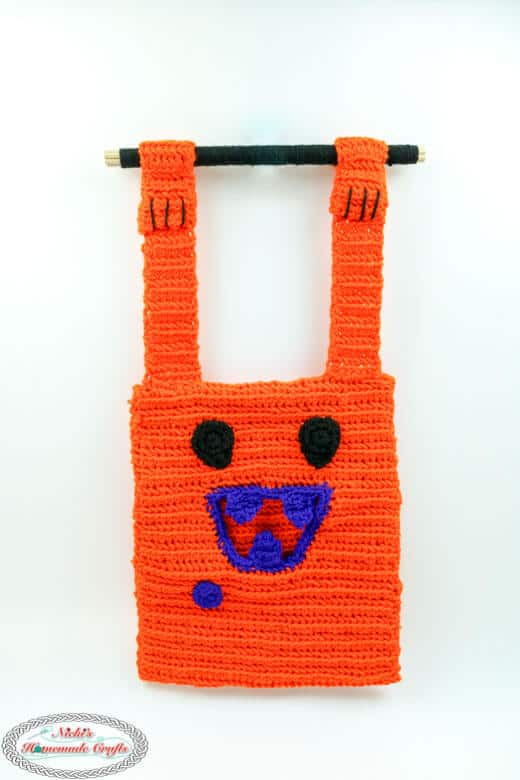 pumpkin trick or treat bag free pattern crochet