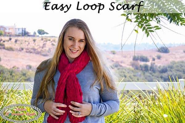 Easy Loop Scarf knitted