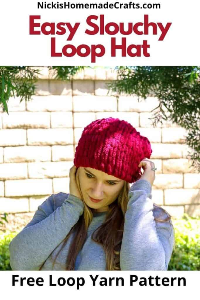 Easy Slouchy Loop Hat - Free Crochet Pattern