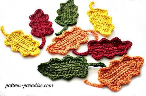 Fall Oak Leaves Free Crochet Pattern