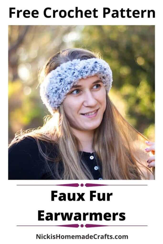 Faux Fur Earwarmers - Free Crochet Pattern