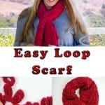 knitting the Easy Loop Scarf