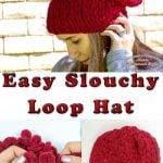 Easy Slouchy Loop Hat