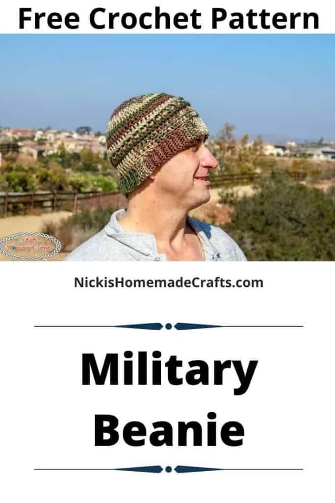 Military Beanie - Free Crochet Pattern
