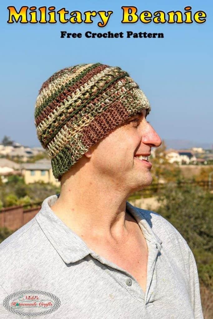 Military Beanie Veterans - Free Crochet Pattern