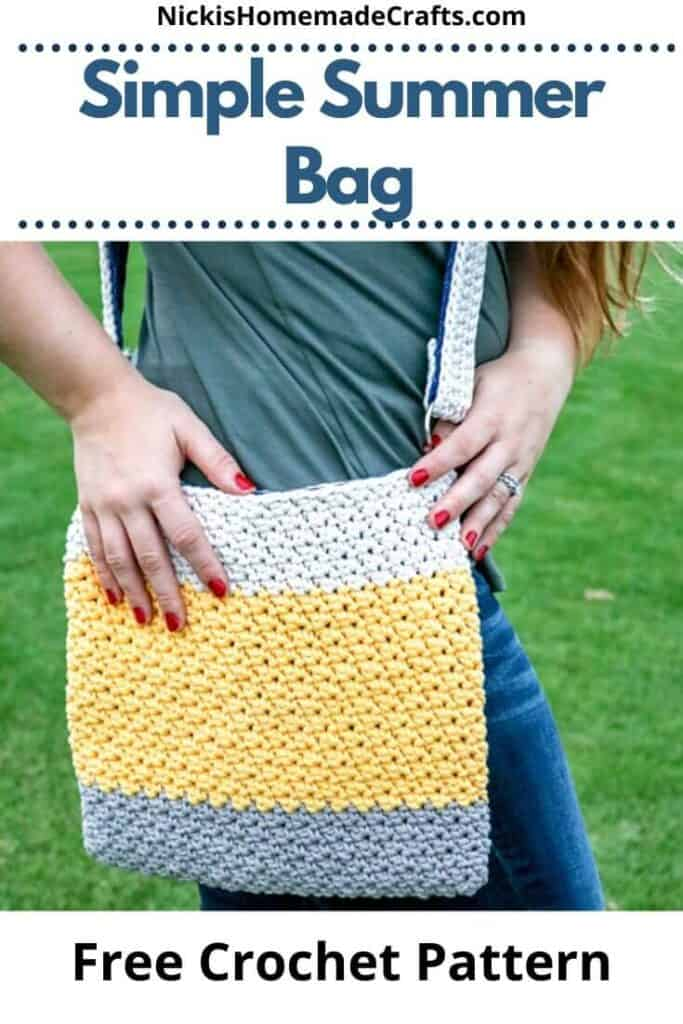 Simple Crochet Summer Bag - Free Pattern