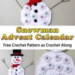 Snowman Advent Calendar Free Crochet Along