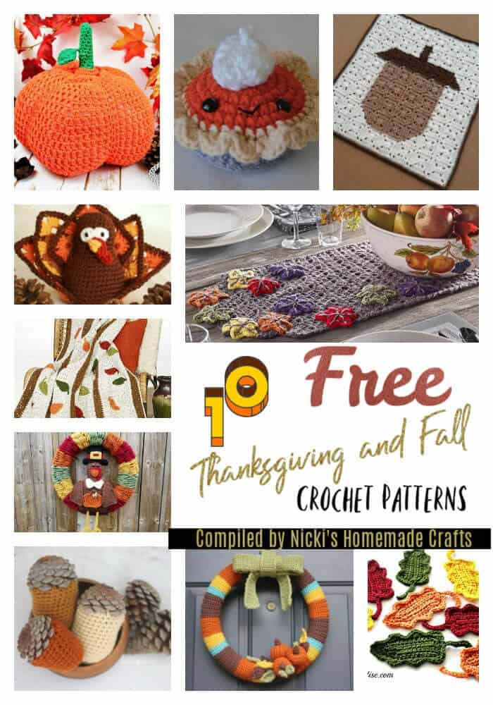 Thanksgiving and Fall Decorations Free Crochet Patterns