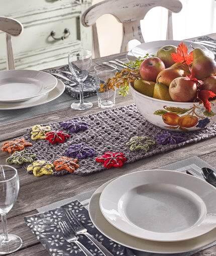 Fabulous Fall Table Runner Free Crochet Pattern