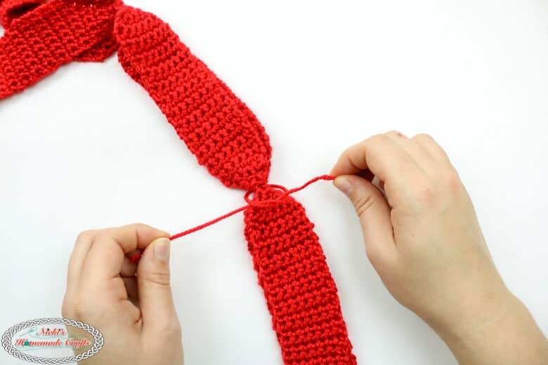 tie crochet pull string bow