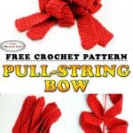 How to crochet Pull-String Bow - Free Pattern
