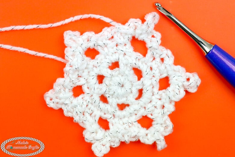 Snowflake crocheted