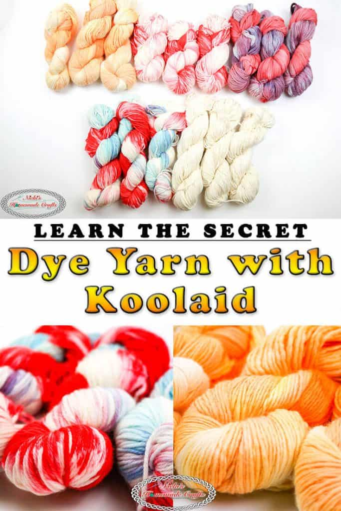 Dye Yarn with Koolaid