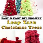 Christmas trees mad with loop yarn and foam cones