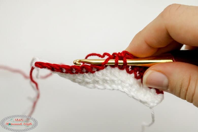 Half Double Crochet for Shadow Crochet aka Illusion Crochet