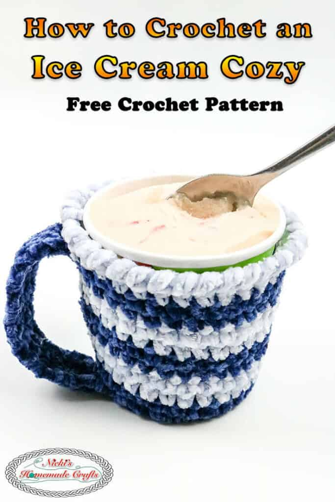 Crocheted Ice Cream Cozy