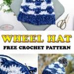 Wheel Hat with Velvet Yarn - Free Pattern Crocheted