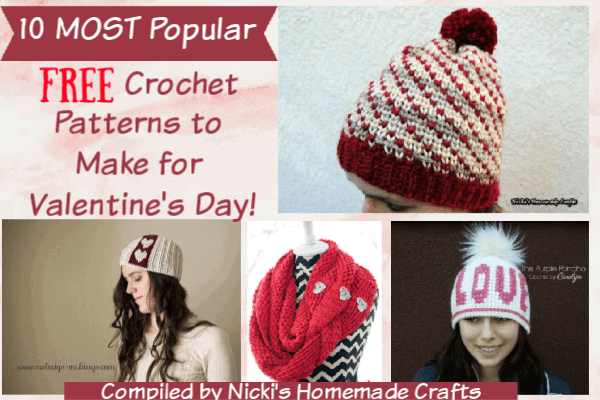 10 Most Popular Free Crochet Patterns to Make for Valentine's Day