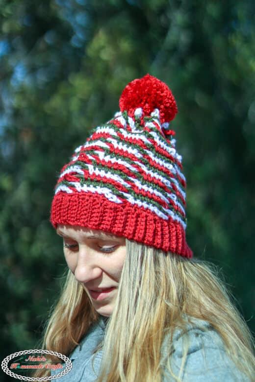 Chain Linked Hat - Free Crochet Pattern