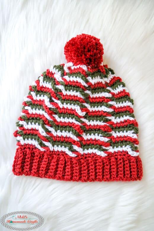 Crochet Chain Linked Hat - Free Pattern