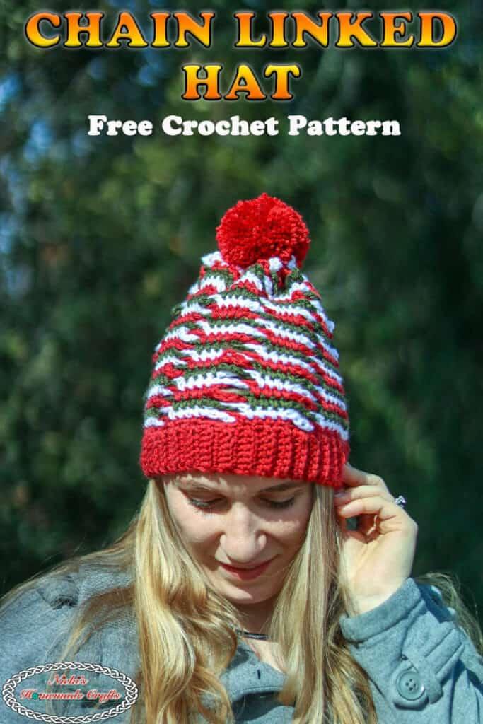 Crochet Chain Linked Hat