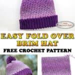 Crochet an Easy Fold over Brim Hat