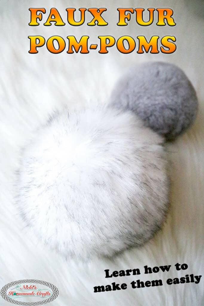 make faux fur pom-poms for hats