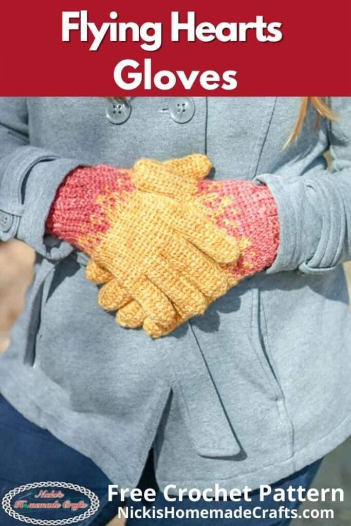 Flying Hearts Gloves Pattern