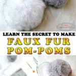 faux fur pom-poms for hats made