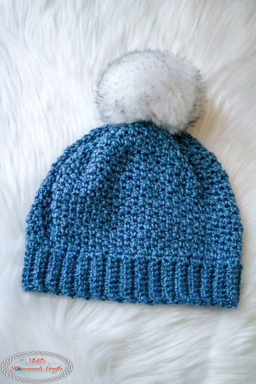 Finished Crochet Lemon Peel Hat