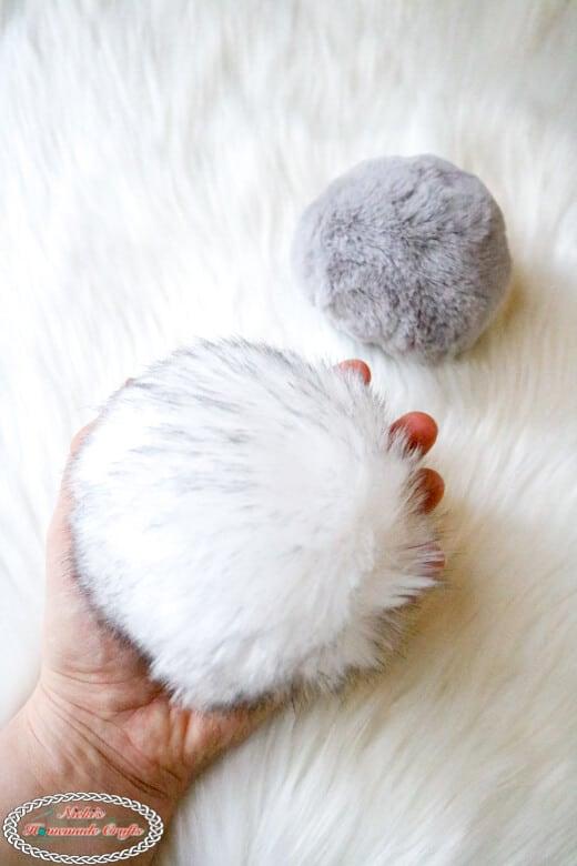 make faux fur pom-poms for hats easily