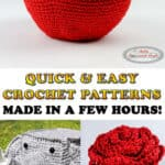 Quick & Easy Crochet patterns made in a few hours