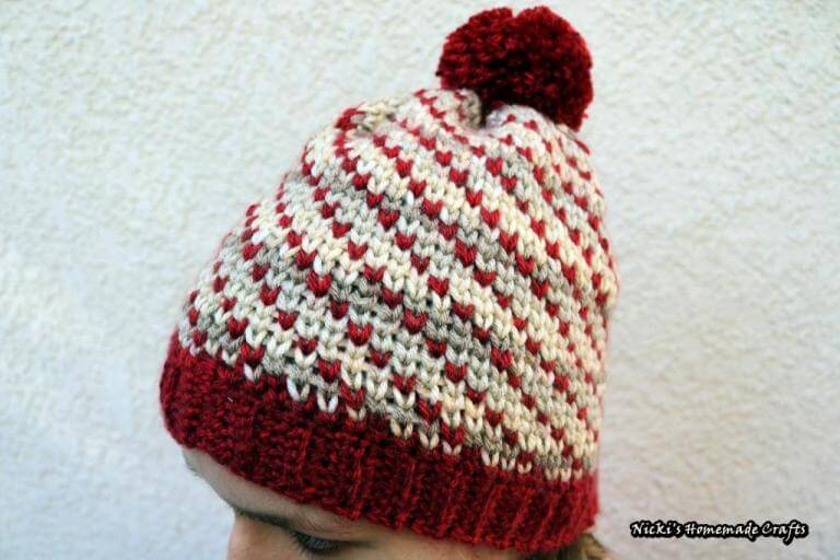 Swirly Heart Hat Free Crochet Pattern
