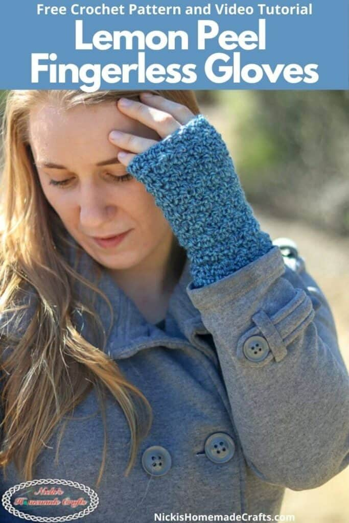 Lemon Peel Fingerless Gloves - Free Crochet Pattern