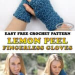Fingerless Gloves Lemon Peel - Free Crochet pattern