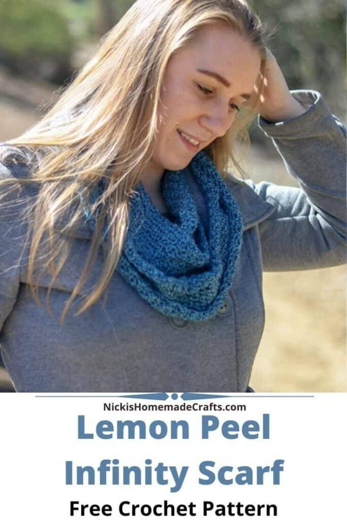 Lemon Peel Infinity Scarf Crochet