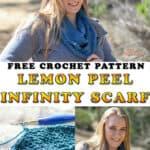 Lemon Peel Infinity Scarf - Free Crochet Pattern