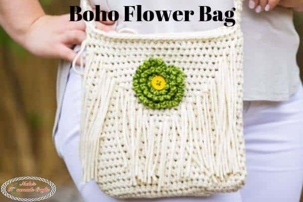 boho flower bag free crochet pattern