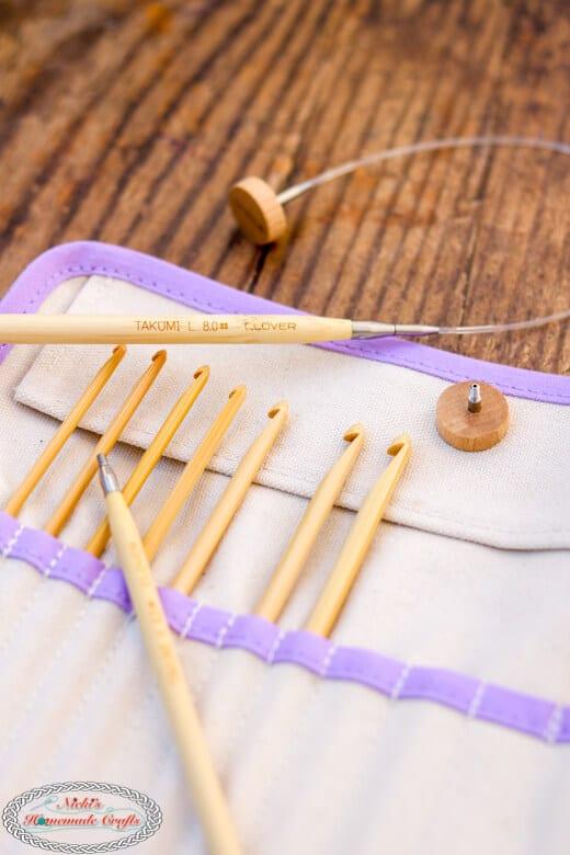 Clover Interchangeable Tunisian Crochet Hook Set
