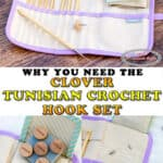 Unboxing and Review of Clover Interchangeable Tunisian Crochet Hook Set