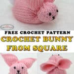 Make a Crochet Bunny from Square - Free Pattern