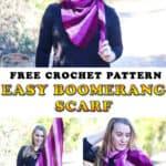 Easy Crochet Boomerang Scarf - Free Crochet Pattern