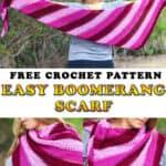 Easy Crochet Boomerang Scarf - Free Pattern