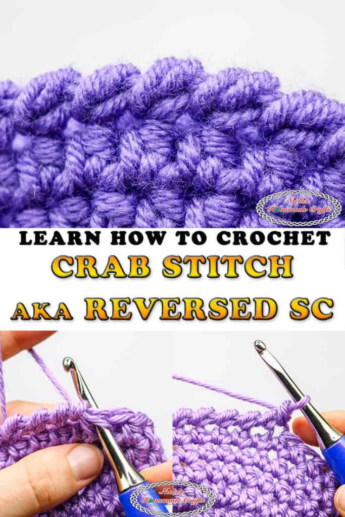 How to Crochet Crab Stitch aka Reversed Single Crochet