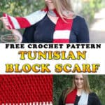Crochet Tunisian Block Scarf - free pattern