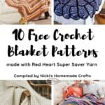 10 Free Crochet Blanket Patterns Red Heart Yarn