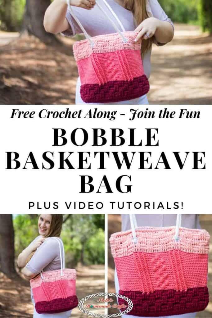 Bobble Basketweave Bag Crochet Along - Join the fun
